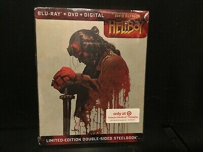 Hellboy 2019 Double Sided Steelbook  Blu-Ray+Dvd+Digital) Target Sold Out New!