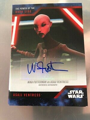 Topps Sdcc  The Power Of The Dark Side Autograph Card Futterman As Ventress