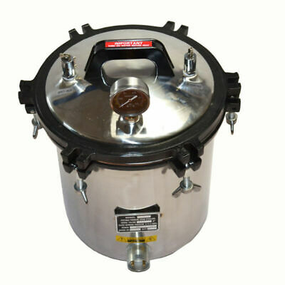 Professional 18L Steam Autoclave Sterilizer Tattoo Dental Lab Equipment Top
