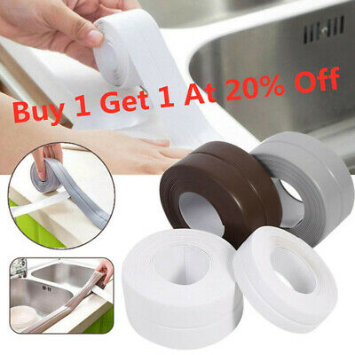 3.2M PVC Tape Kitchen Bathroom Wall Sealing Waterproof Mold Proof Adhesive
