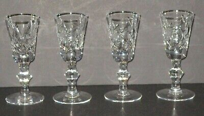 VTG ABP Cut AMERICAN BRILLIANT Crystal Pinwheel Aperitif Glasses Set of 4 FOUR