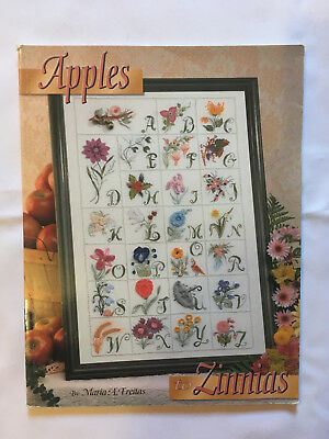Apples to Zinnias. Alphabet embroidery instruction & pattern book. New