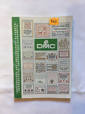 DMC Alphabet Sampler. Emboidery instruction and pattern book.