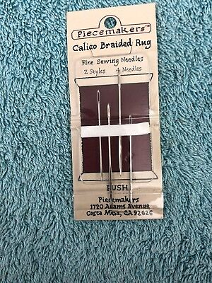 Piecemakers Fine Sewing needles. Rug-Making. 4 Needles. new unused