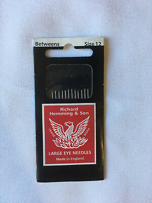 Richard Hemming & Sons Betweens needles, size 12, new unused