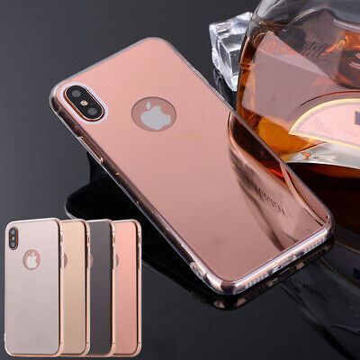 Luxury Mirror Hard Back Case Hybrid TPU Phone Cover For Apple iPhone XR XS MAX