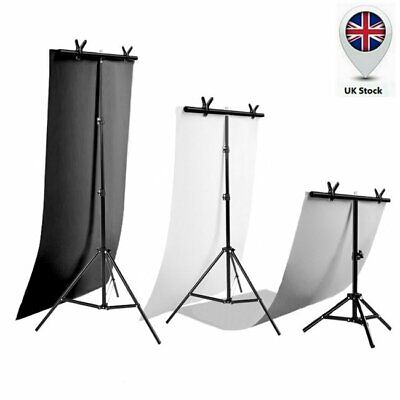 T Backdrop Stand PVC Background Pro Studio Photography Support System & Clip UK