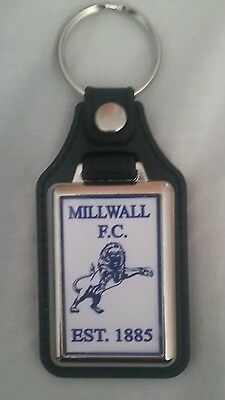 Millwall F.C  quality   leather fob  Keyring . Ideal gift