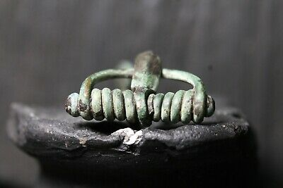 Rare Ancient Roman Bronze Fibula, Antique Brooch, 1th-4th century AD.