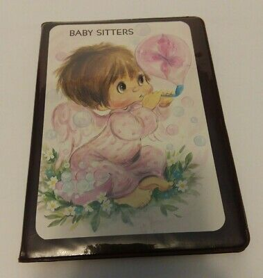 Vintage Baby Sitters Address Book instructions Book-Free Shipping