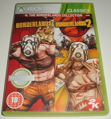 Xbox 360 ** Borderlands 1 & 2 ** X-Box 360 Game ** Post Apocalyptic Rpg Shooter