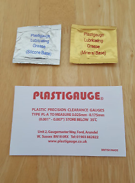 PL-A Plastigauge Engine Bearing Clearance Gauge with Silicone & Mineral Grease