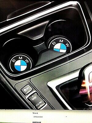 Bmw Logo Silicone Cup Holder Mats X2 Pieces, 66.Mm, Brand New, Uk Seller🇬🇧