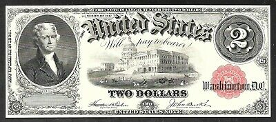 Proof Print by the BEP - Face of  1917 $2.00  United States Note (US Note)