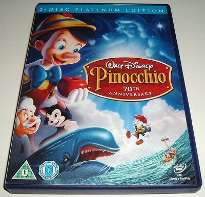 Walt Disney Classic ** PINOCCHIO ** 2 DISC GOLD OVAL NUMBERED DVD No 2  VGC
