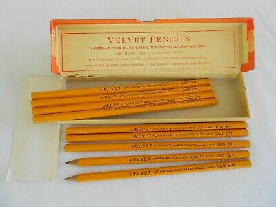 Venus Velvet Pencils Lot of 9 Hexagon 880 5 H Drawing Drafting Original Box