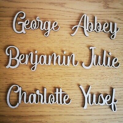 Personalised script child's names, letters  words Wedding, Art Wooden MDF craft