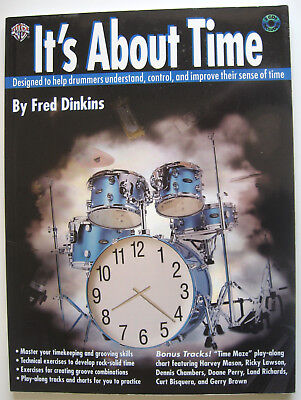 Its About Time by Fred Dinkins Book (Drums Drummers Drumming learning tuition)
