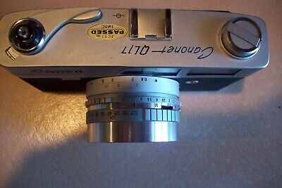 Canon Camera Canonet  QL17  45mm Lens 1:17 w/ Case