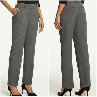Ann Taylor Womens Signature Fit Wool Blend Straight Leg Career Pants Size 2P
