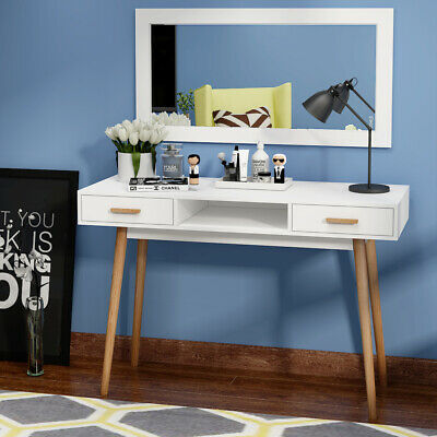 Vanity Dressing Table Makeup Table 2 Drawer Writing PC Table Desk Office Bedroom