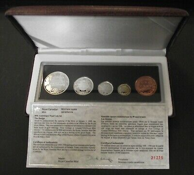1908-1998 Sterling Silver 90th Anniversary Proof Set of Canada RCM Coins, B41