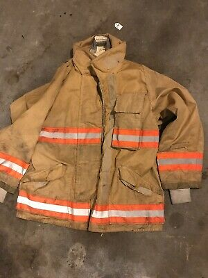 42S Vintage Fireman's Fire Fighting Coat Protective Outer Shell Only No Lining