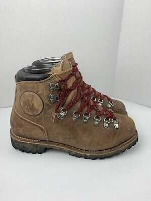 9ce20779773 USA VINTAGE VASQUE Brown Leather Mountaineer Hiker Trail Boots 10.5 D Euc