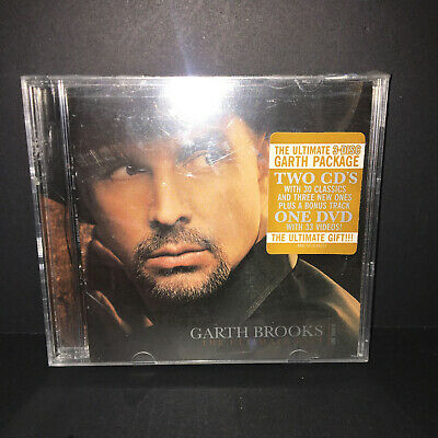 Garth Brooks The Ultimate Hits 3 Disc Set 2007 2 CD + DVD Country NEW and SEALED