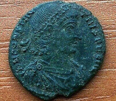 Constantius II 347-355 AD AE Follis Constantinople mint Ancient Roman Coin
