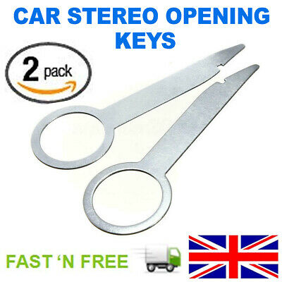 2x Car Vehicle Parts Radio Stereo Removal Release Tool Keys Accessories Useful