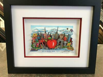 """Charles Fazzino 3D Artwork """"Blue Skies Over New York"""" Signed & Numbered Red"""