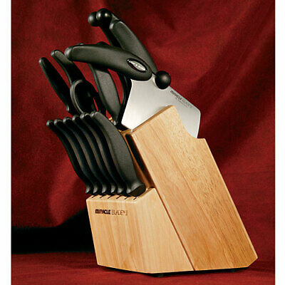 Miracle Blade III 17 Piece Stainless Steel Professional Cutting Knife Block Set