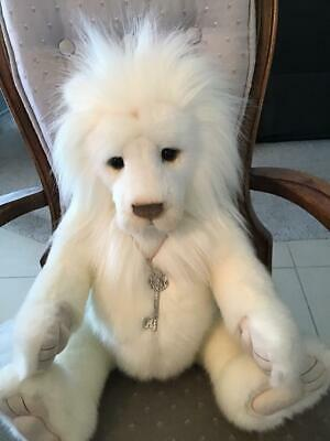 "Dandy Charlie Bears 2019 Plush * 18"" White Lion New With Tags"