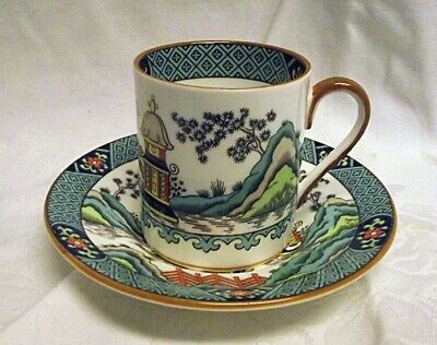 EXCELLENT Coalport Bone China England Chinese Willow Demi Demitasse Cup Saucer