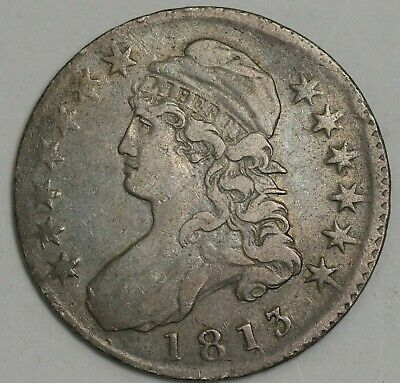1813 50 Cents Silver Capped Bust Half Dollar