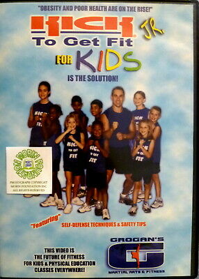 Kick To Get Fit Jr For Kids Dvd Featuring Self-Defense Techniques & Safety Tips