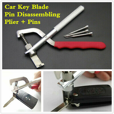 Auto Car Remote Key Blade Pin Disassembling Clamp Locksmith Pilers Tools Set