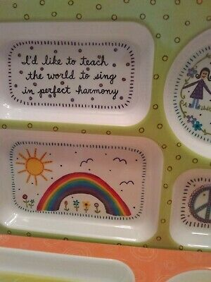 NATURAL LIFE Child's Plates divided portions happiness and sunshine