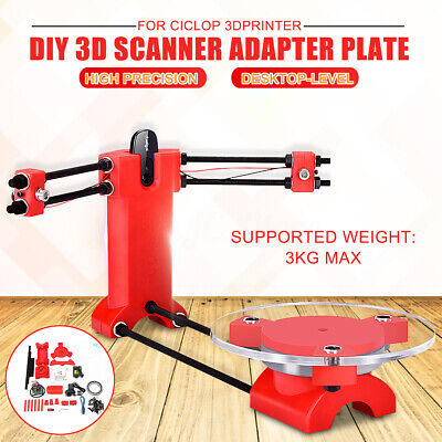 3D DIY Open Source Laser Scanner Plate Kit+Adapter Object Red For Ciclop Printer