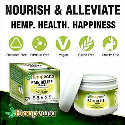 Hempvana Cream for Pain Relief & Joint Pain Relief with Hemp Seed Extract $SAVE$