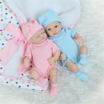 Handmade Silicone Newborn Sleeping Baby Dolls Lifelike Dolls Boy Girl Gift Toy