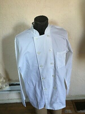 CHEF WORKS LE MANS White CHEF'S COAT JACKET Sz LARGE NWT