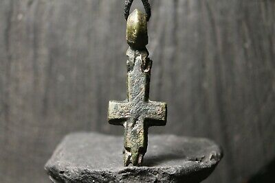 Ancient Viking Bronze Orthodox Encolpion, Christian Pendant, 9th-11th century AD