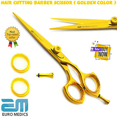 "PROFESSIONAL HAIRDRESSING HAIR CUTTING BARBER SHEARS SALOON SCISSORS 6"" Gold CE"