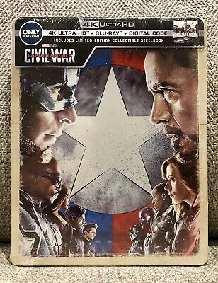 CAPTAIN AMERICA CIVIL WAR 4K UHD + blu-ray STEELBOOK BEST BUY NEW & SEALED MINT