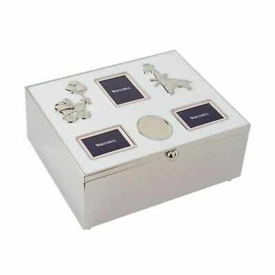 Whitehill - Silver Plated Baby Photo Box with Engraving Plaque 21x17x9cm