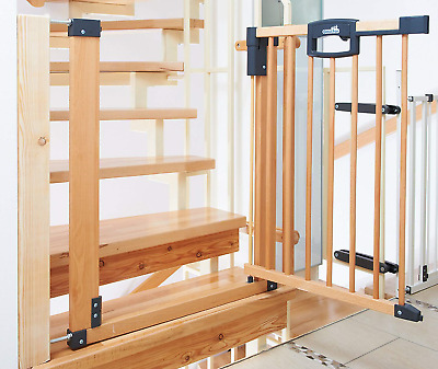Geuther Stair Safety Gate Easy Lock Wood, Range of Adjustment 80.5 - 88.5cm