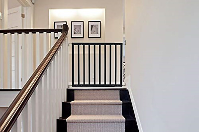 Safetots Top of The Stairs Screw Fitted Stair Gate Black Wooden