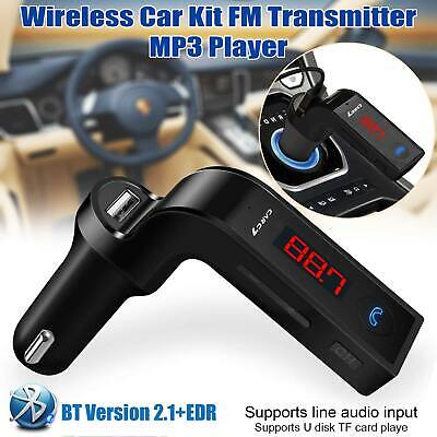 Wireless Car FM Radio Transmitter Bluetooth AUX MP3 SD Charger USB Handsfree Kit